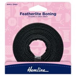 8mm x 2m Black Featherlite...