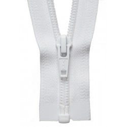 25cm Open End Zip: White By...