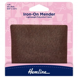 Brown Iron-On Mender...