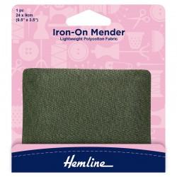 Khaki Iron-On Mender...
