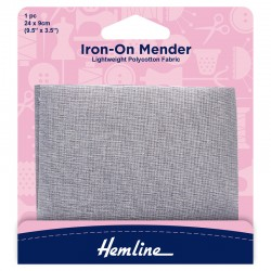 Light Grey Iron-On Mender...