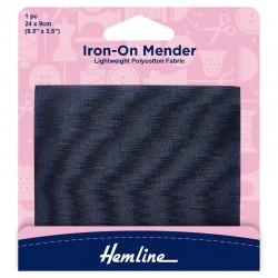 Navy Iron-On Mender...