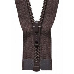 30cm Open End Zip: Brown By...