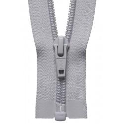 30cm Open End Zip: Silver...