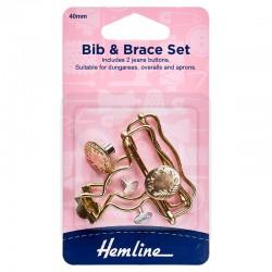 Bib & Brace Set: 40mm: Gold...
