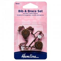 Bib & Brace Set: 40mm:...