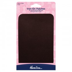 Brown Iron-On Patches -...